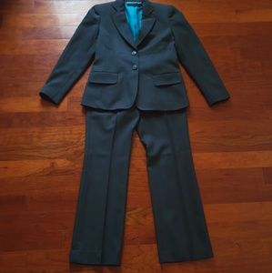 Anne Klein Petite Forest Green Pantsuit